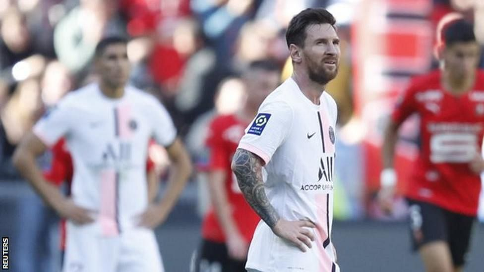 Messi suffers first PSG defeat