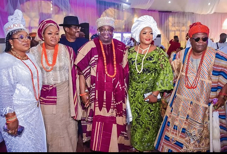 Dele Momodu, wife and some guests