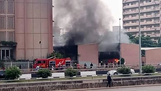 20 cars destroyed as fire guts Federal Secretariat in Abuja