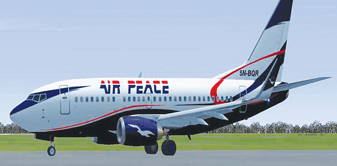 Air Peace passenger plane's tryre bursts in Ilorin