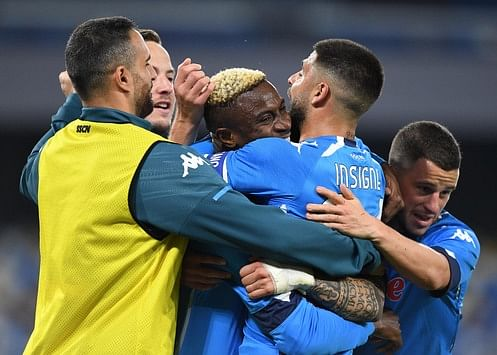 Serie A : Osimhen's brace sends Napoli second after victory over Spezia