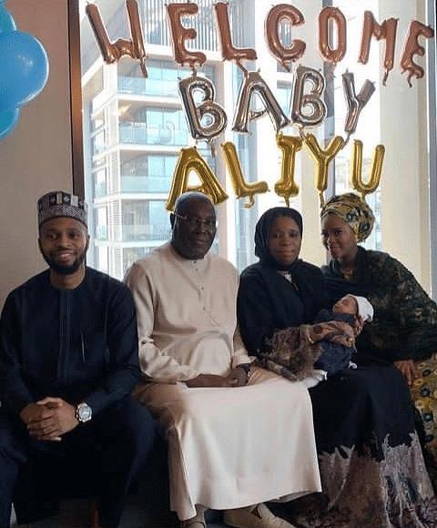 PHOTOS: Atiku's son Mustapha, wife welcome baby boy