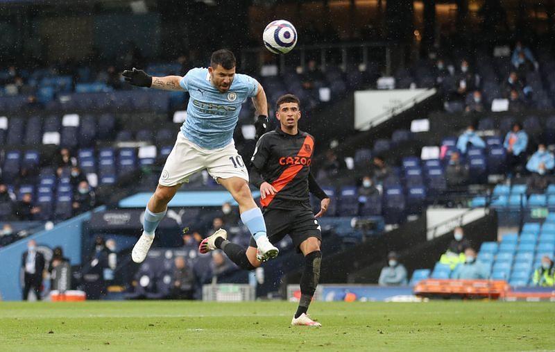 Aguero grabs brace, breaks goal record as Man City celebrate title with Everton rou