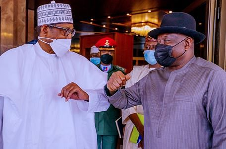 PICTORIAL: Jonathan visits State House to brief President Buhari on Mali crisis