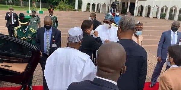 Buhari receives Libyan PM at Aso Rock