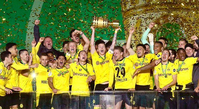 Sancho, Haaland goals fire Dortmund to fifth German Cup victory