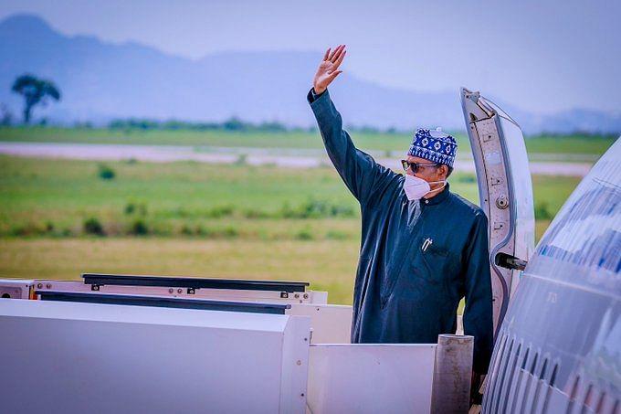 Photos: Buhari departs Nigeria for France