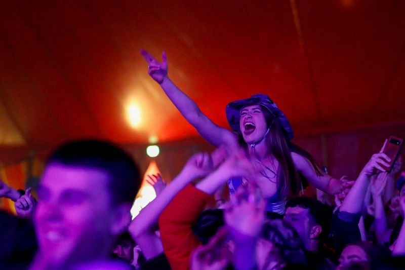 English music-lovers party like it's 2019 at COVID pilot festival