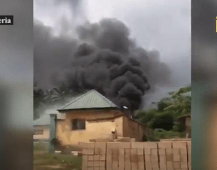 VIDEO: Gunmen raze INEC office in Imo