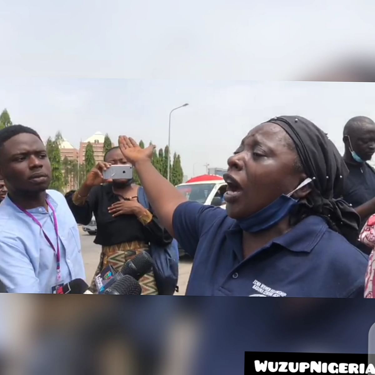 #BringBackOurChildren: Parents of abducted Kaduna Varsity students, Afaka occupy NASS in protest (VIDEO)