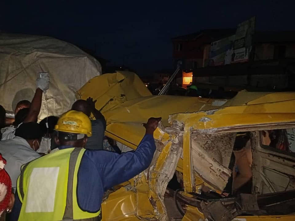 Three victims rescued from Mushin multiple accidents