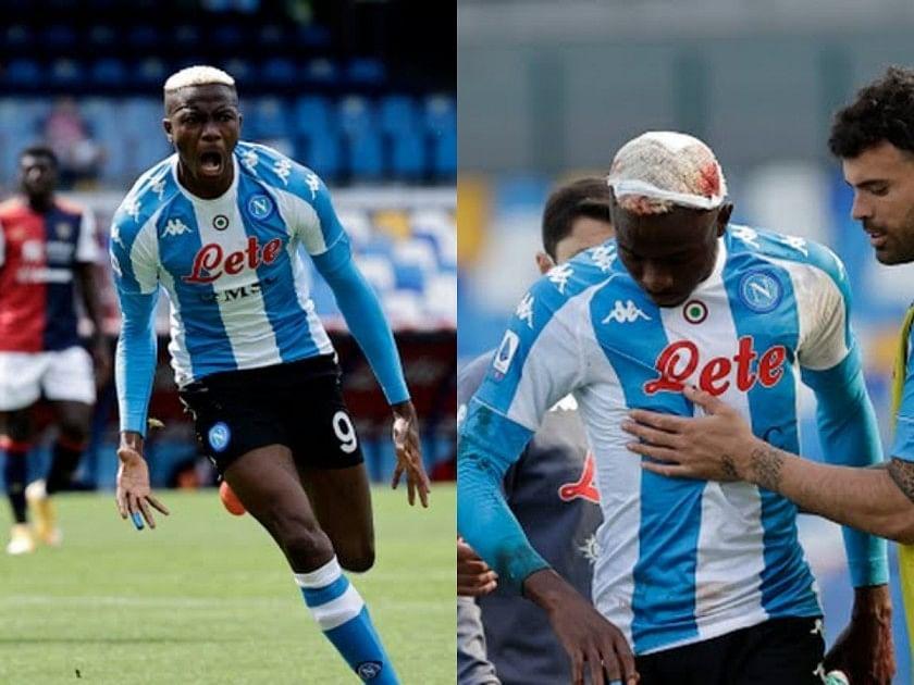 Osimhen scores, suffers head injury in Napoli's 1-1 draw against Cagliari