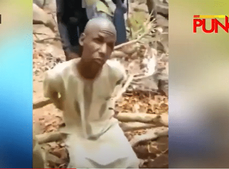 VIDEO: Suspected kidnapper takes police to location where weapons are hidden