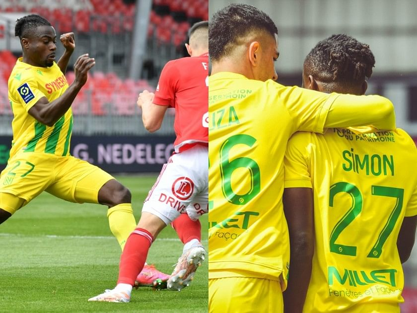Simon leads relegation-threatened Nantes to 4-1 victory over Brest