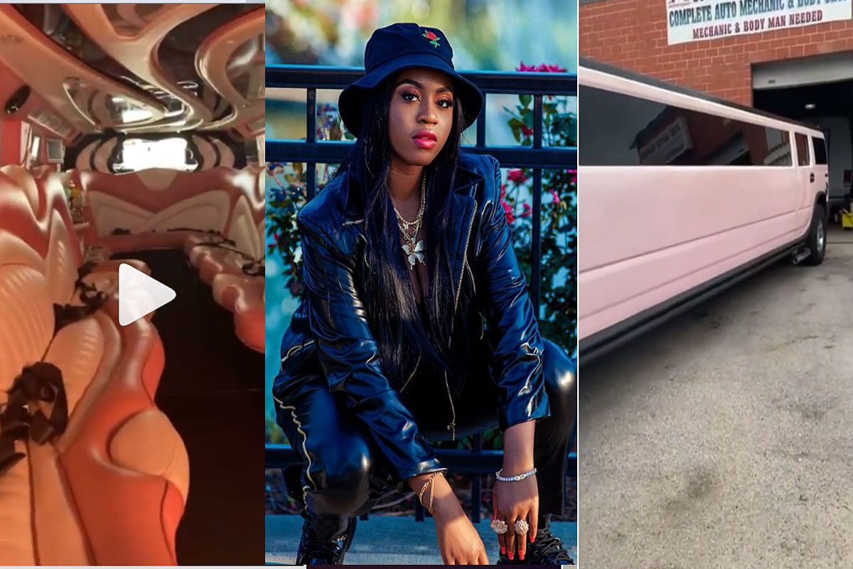 Reactions as Toyin Lawani presents daughter with Limousine ride on 16th birthday