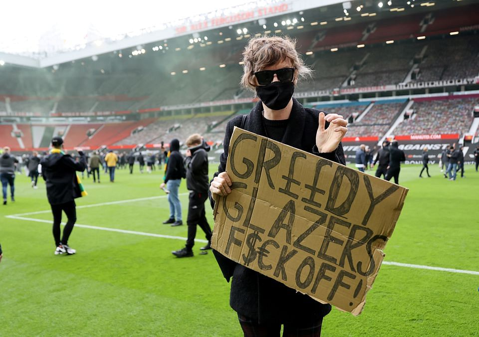 (VIDEO) #GlazersOut: Man Utd players invade Old Trafford ahead of Liverpool clash