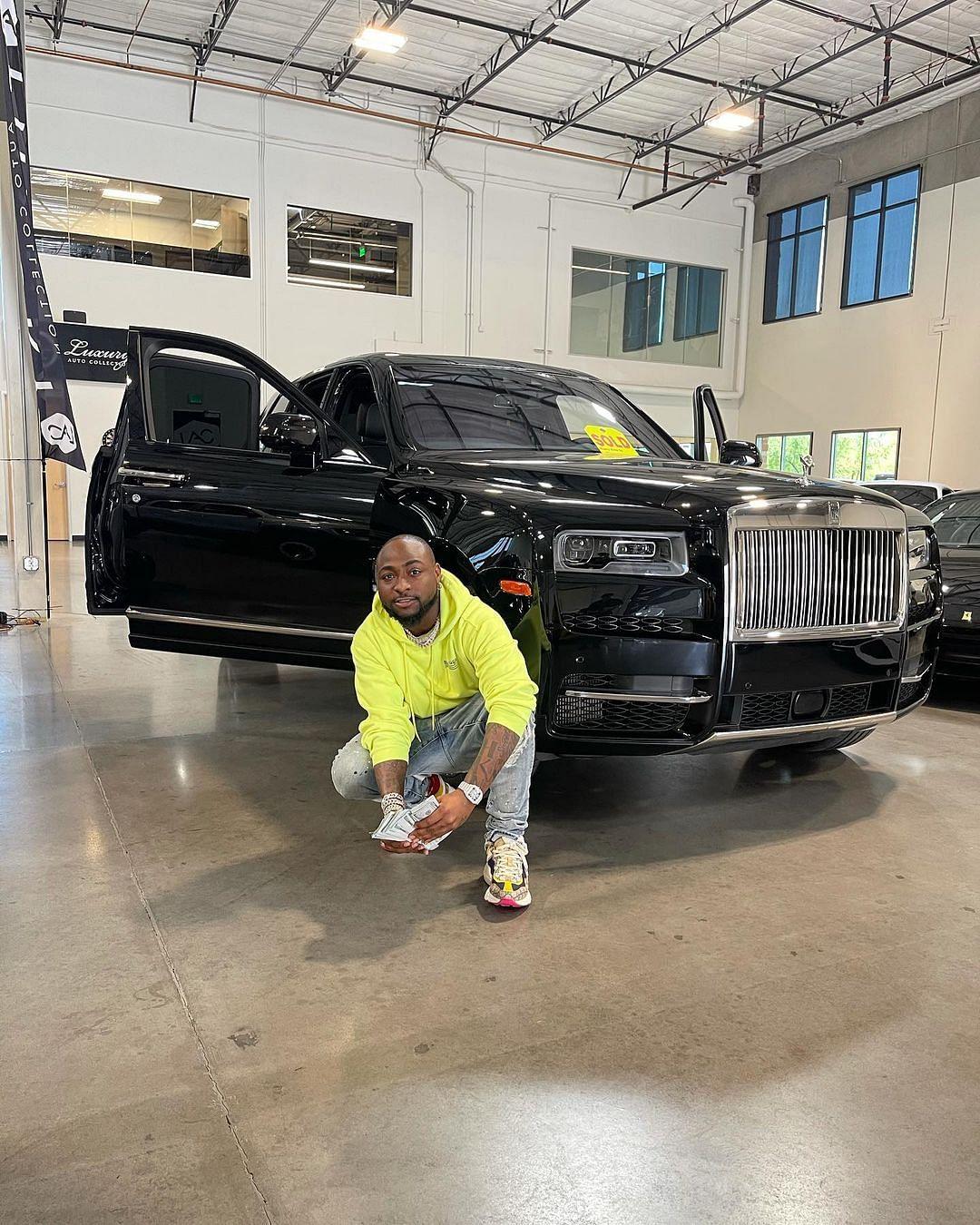PHOTOS: Singer Davido acquires brand new 2021 Rolls Royce