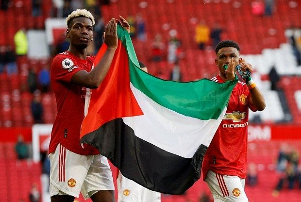 Pogba, Diallo risk FA sanction after flaunting Palestine flag in Fulham draw