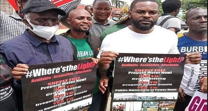 PHOTOS: Falana, Falz, others protest in Lagos