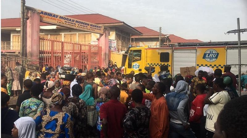 Police disagree with LASEMA, say Oshodi market fire not caused by explosives