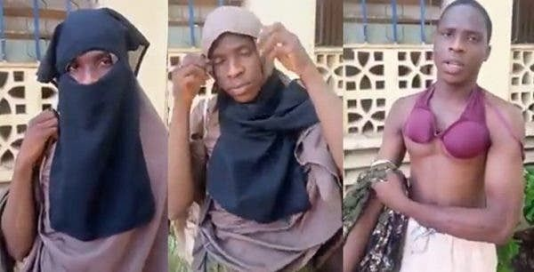 VIDEO: Man caught in female hostel disguised as woman