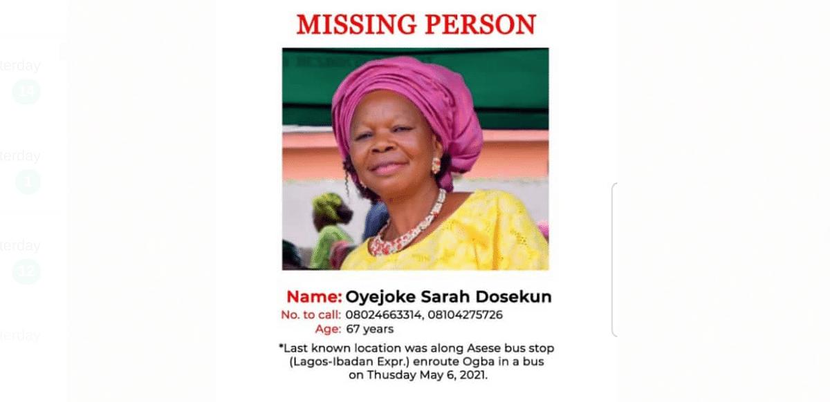 Ogun businesswoman goes missing on way to vigil in Lagos
