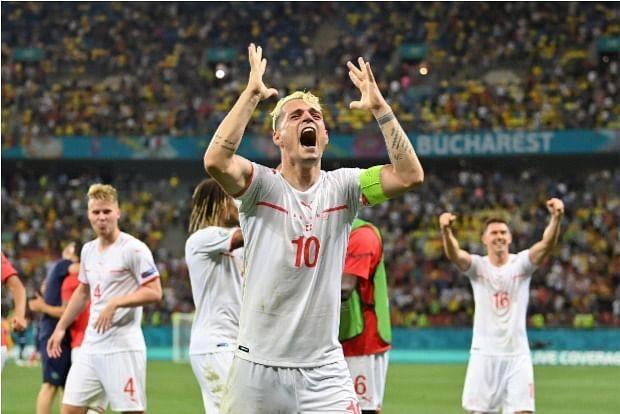 Switzerland celebrates historic win over France