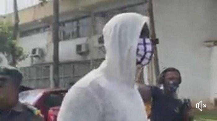 PHOTOS: Baba Ijesha arrives Lagos court in handcuffs