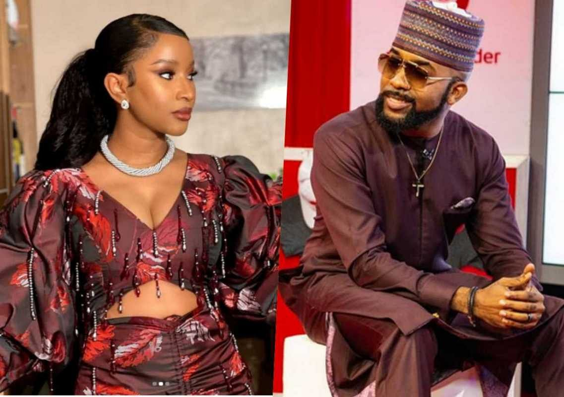 'I carry eye go market', Adesua's gorgeous look leaves Banky W drooling