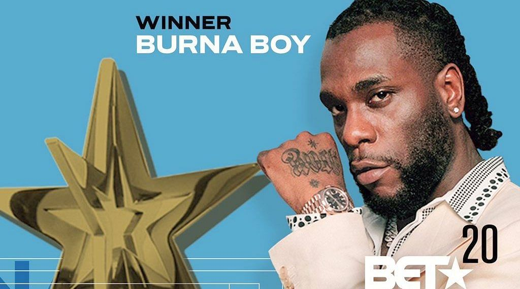 JUST IN: Burna Boy breaks record as first African artiste to clinch three consecutive BET Awards