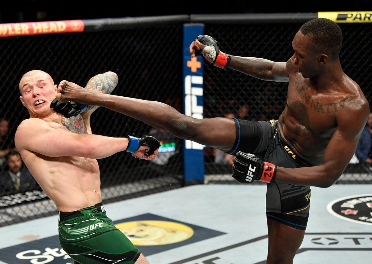 Adesanya dodging Vettori's punches like Buhari, Nigerians reacts to UFC win