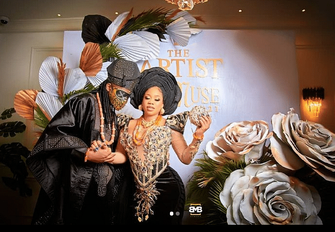 PHOTOS: Celebrities grace Toyin Lawani's traditional wedding