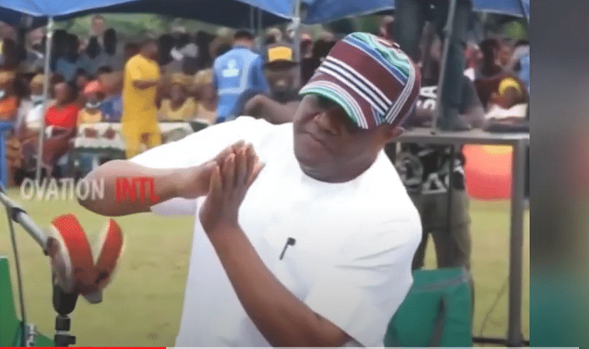 VIDEO: Gov Wike shows off dance skills at ceremony in Rivers
