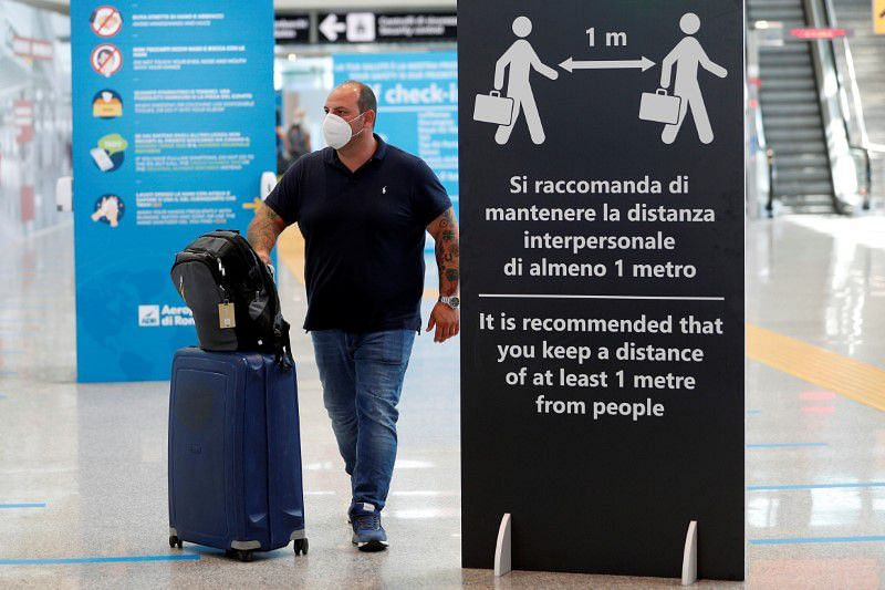 """Protest against """"green pass"""" over new coronavirus rule in Italy"""