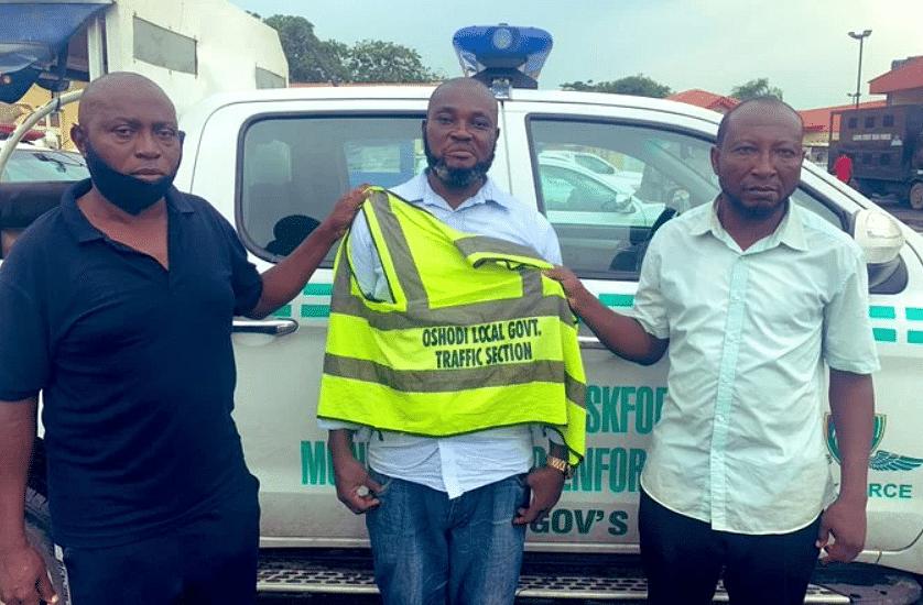 Taskforce arrests three over alleged extortion of motorist