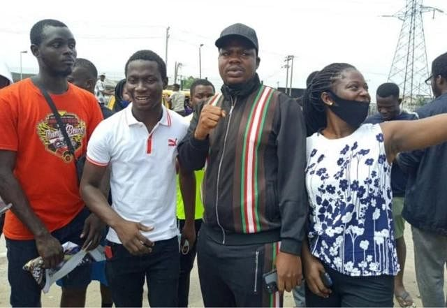 June 12: Comedian Mr Macaroni joins protest in Lagos