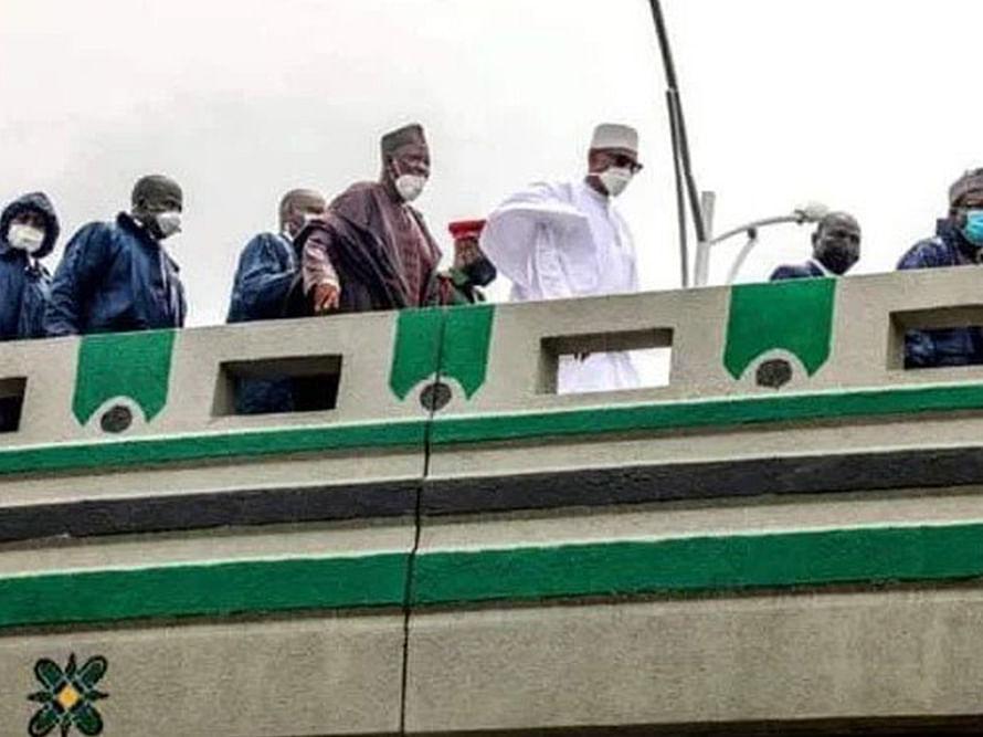 Buhari inaugurates three-layer interchange in Kano