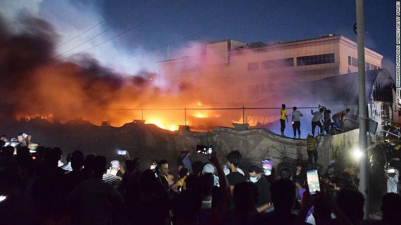 PHOTOS: Fire razes Iraqi COVID-19 hospital, kills 41