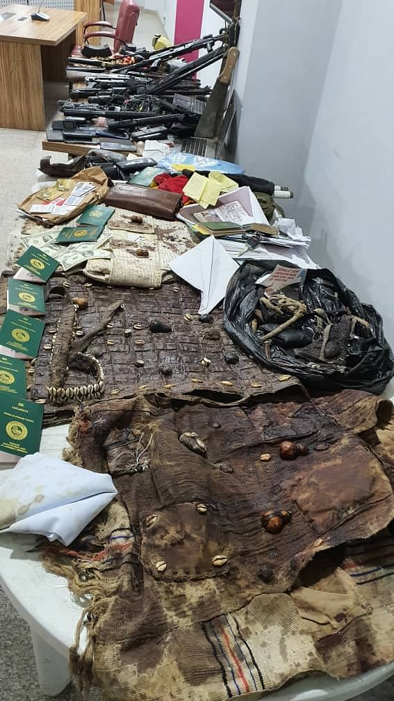 PHOTOS: DSS displays items recovered from Igboho's residence