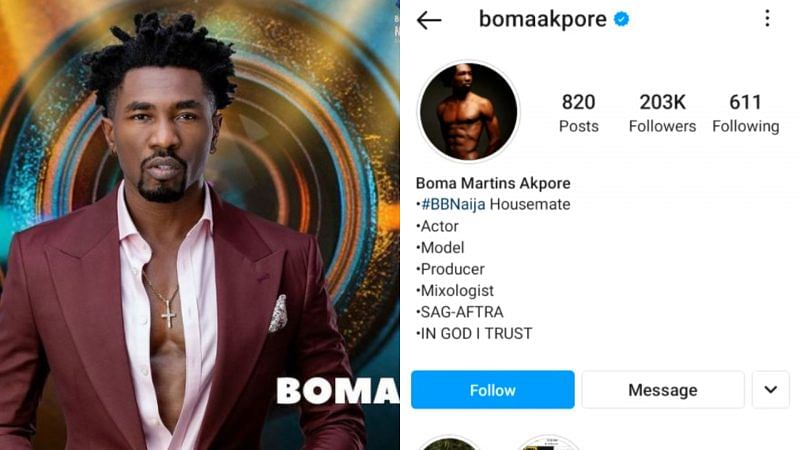 #BBNAIJA2021: Boma becomes first housemate verified on Instagram