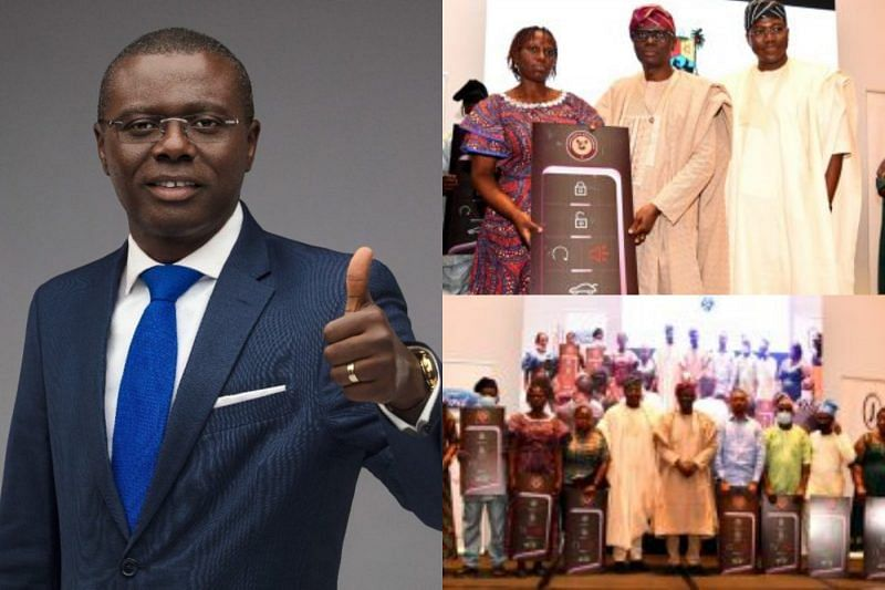 Sanwo-Olu presents 10 cars, cash reward to outstanding civil servants