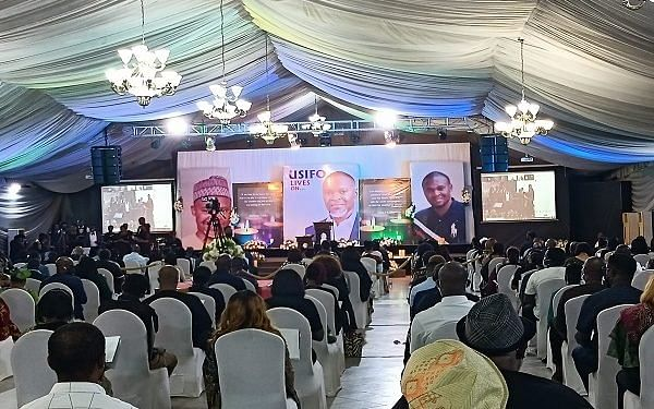 PHOTOS: Mass turnout at slain Super TV CEO Service of songs