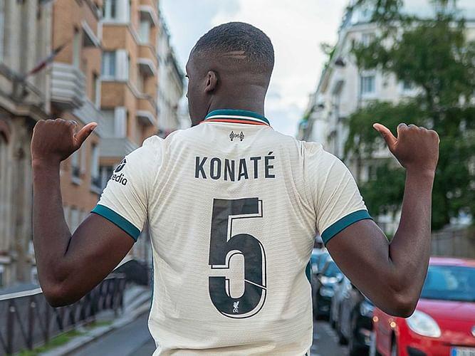 PHOTOS: Ibrahima Konate inherits Wijnaldum's No 5 jersey at Liverpool
