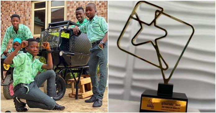 PHOTO: Ikorodu Bois bags first award