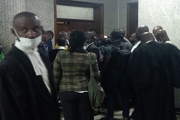 PHOTOS: Lawyers, journalists awaiting access for Nnamdi Kanu's trial