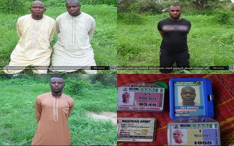 Boko Haram release images of captured soldiers, two other abducted civilians