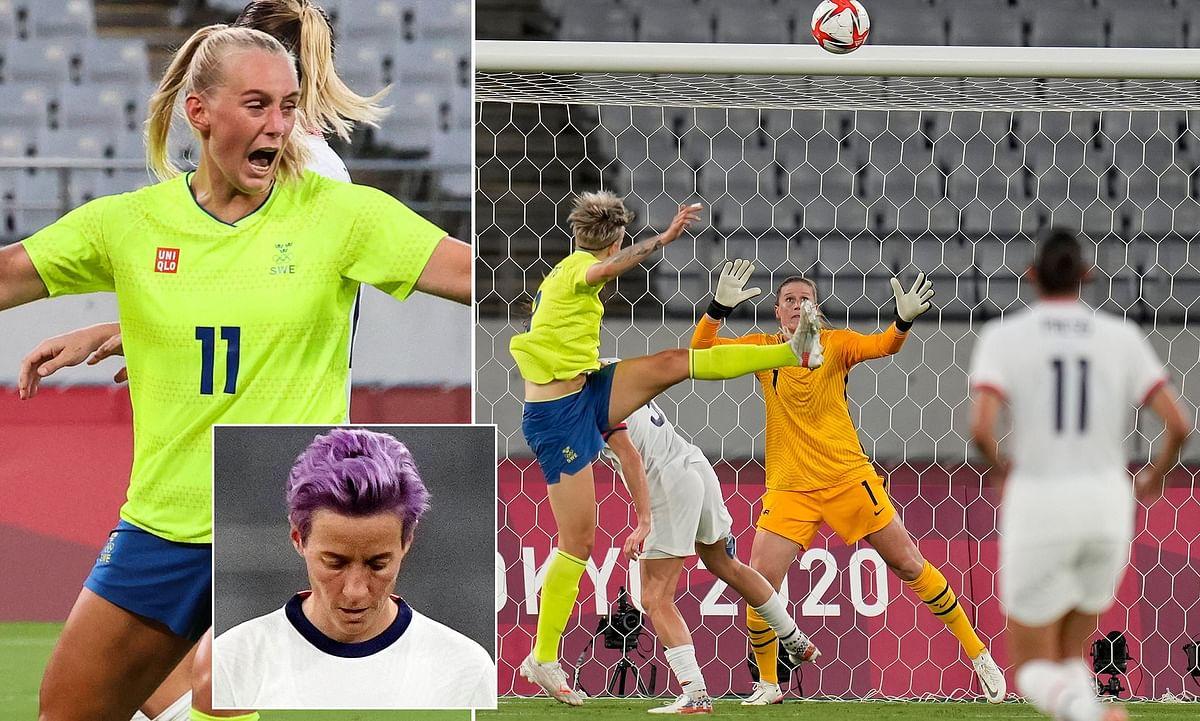 Sweden end US unbeaten run, thrash Olympic female team 3-0