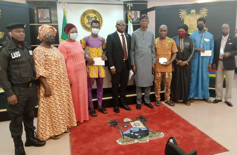 Sanwo-Olu supports families of three dead policemen with N10m