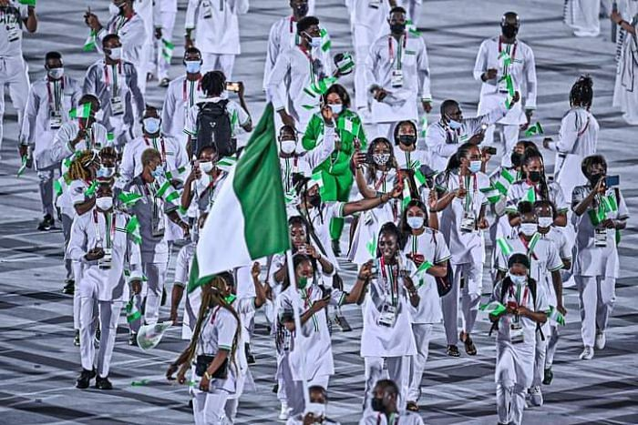 PHOTOS: Team Nigeria steals show at Tokyo Olympics' opening ceremony