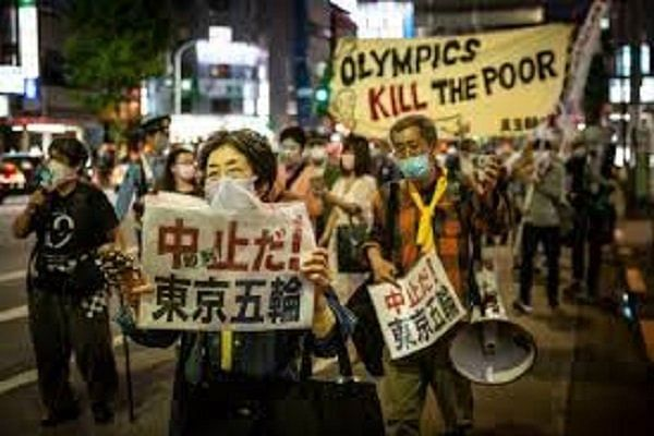 Protests in Tokyo against Olympics during opening ceremony